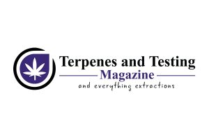 Terpenes and Testing magazine logo and tag